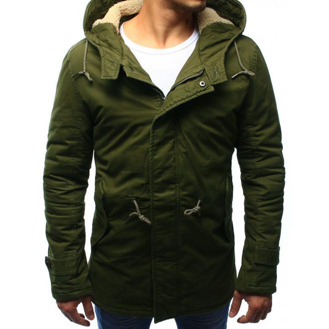 Zelená pánska bunda Parka na zimu - skvelamoda.sk b1cf1eebef7