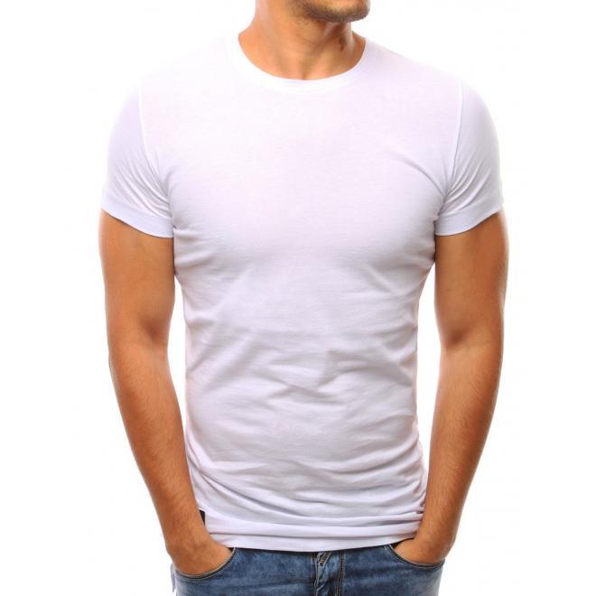 4308141a4 Klasické pánske tričko s krátkym rukávom v bielej farbe - skvelamoda.sk