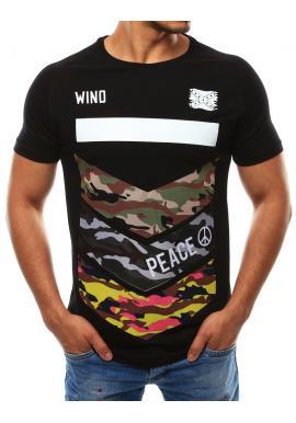 eb7bebaa94ba Športové pánske tričká s farebnou potlačou v čiernej farbe Športové pánske  tričká s farebnou potlačou.