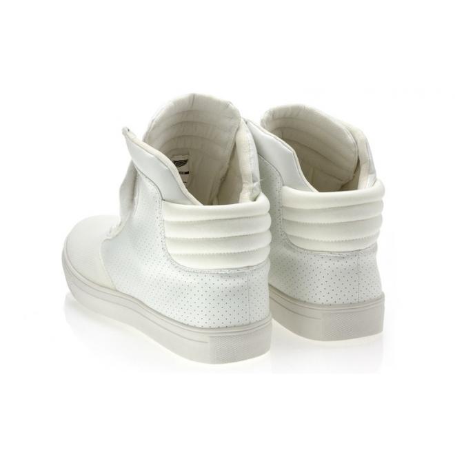 Biele členkové Sneakersy pre pánov