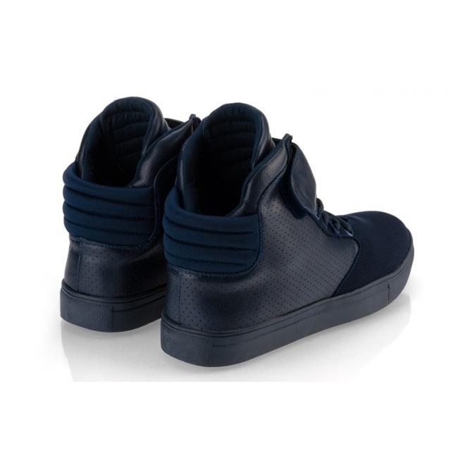 čierne pánske šnúrovacie Sneakersy so suchým zipsom