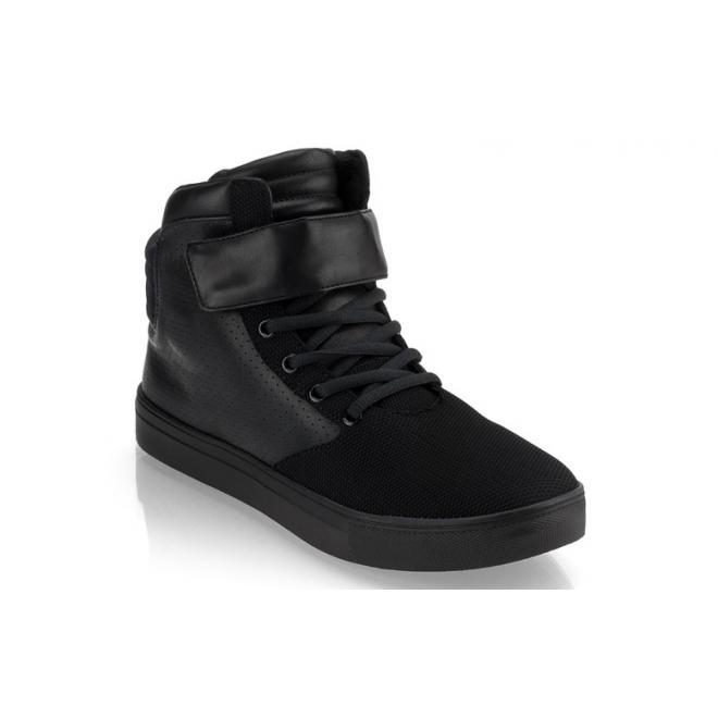 Čierne šnúrovacie Sneakersy so suchým zipsom pre pánov
