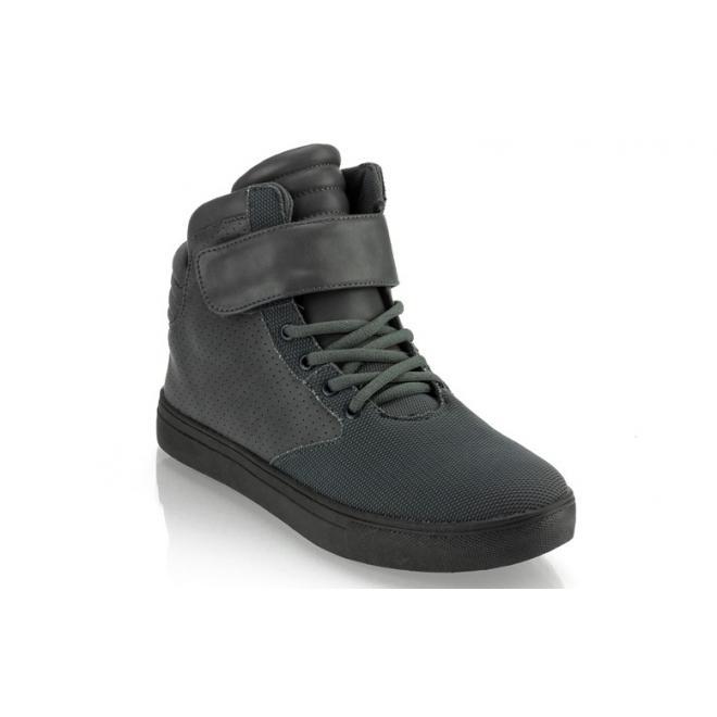 Pánske tmavosivé Sneakersy so šnúrovaním a suchým zipsom