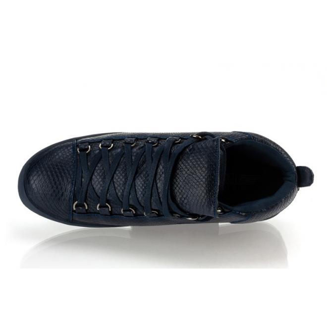 Sneakersy so šnúrovaním tmavomodrej farby pre pánov