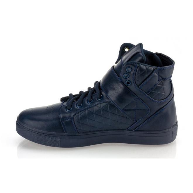 Tmavomodré pánske šnúrovacie Sneakersy so suchým zipsom