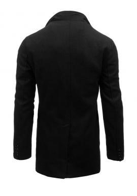 Sivý jednoradový kabát s odopínateľným golierom pre pánov