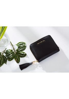 Bordová malá peňaženka so strapcami pre dámy