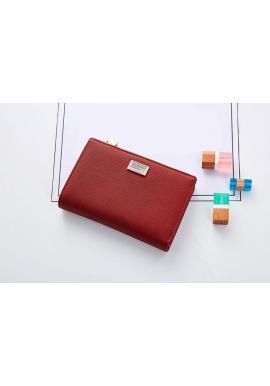 Červená módna peňaženka pre dámy