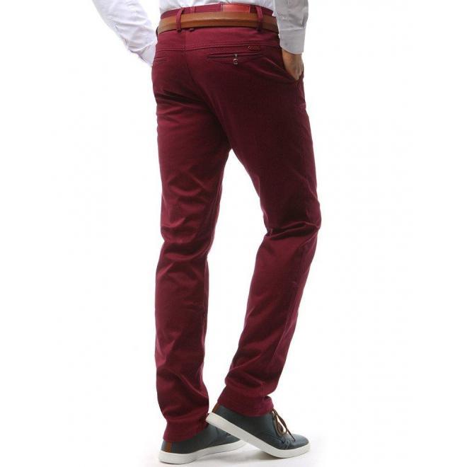 Pánske nohavice Chinos v bordovej farbe