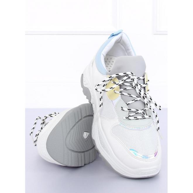 8d5c7b06967a6 Dámske športové tenisky na masívnej podrážke v bielo-modrej farbe ...