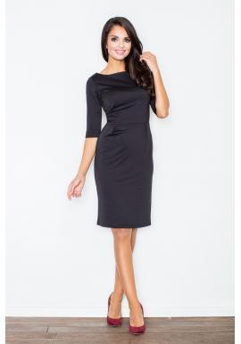 b8229b6a6e0c Dámske elegantné šaty s 3 4 rukávom v béžovej farbe ...