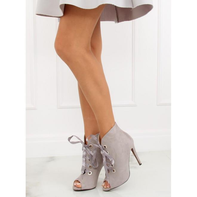732ba89db6 Zelené semišové topánky na podpätku s otvorenou špičkou pre dámy ...