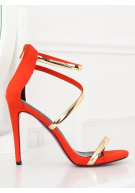 b5fb9582af775 Zmyselné dámske sandále čiernej farby na štíhlom podpätku ...