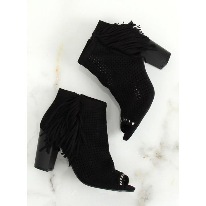 0e3e958c0cf8e ... Dámske semišové topánky na podpätku s otvorenou špičkou v sivej farbe