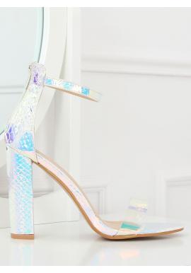 16545b40b1ce7 Dámske semišové sandále na farebnom podpätku v béžovej farbe ...