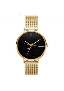 Dámske elegantné hodinky s bielym ciferníkom v ružovo-zlatej farbe