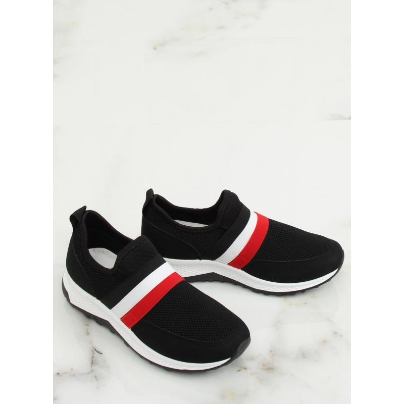 Čierne štýlové tenisky s kontrastnými pásmi pre dámy - skvelamoda.sk ddb843df55