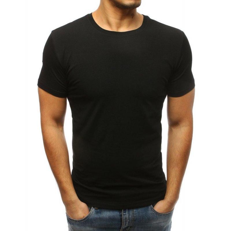 0c12f21e26e2 Klasické pánske tričko čiernej farby s krátkym rukávom - skvelamoda.sk
