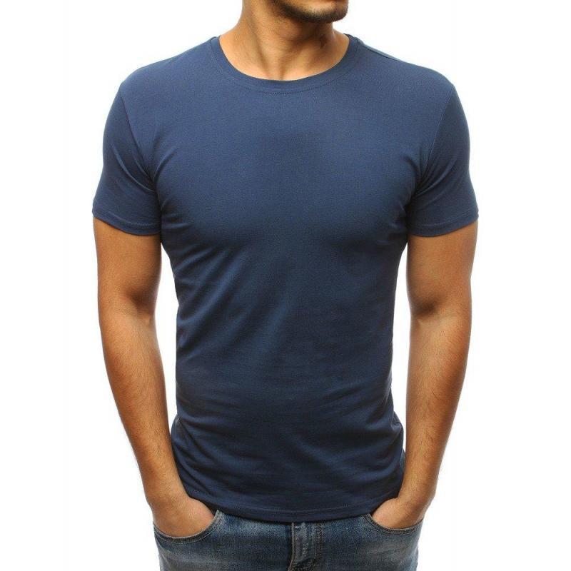 5bb6f221f9a8 Modré klasické tričko s krátkym rukávom pre pánov - skvelamoda.sk