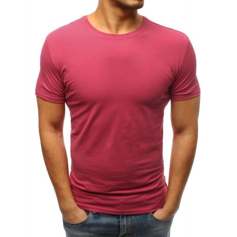 d8e78f5125e6 Pánske klasické tričko s krátkym rukávom v ružovej farbe - skvelamoda.sk