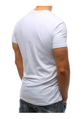 Štýlové pánske tričko zelenej farby s potlačou na hrudi