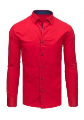 Tmavomodrá elegantná košeľa s kockovaným vzorom pre pánov