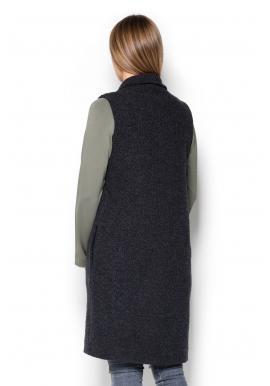 Čierna športová vesta s asymetrickým zipsom pre dámy