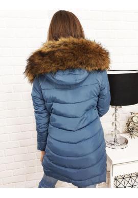 Dámska zimná bunda s odopínateľnou kožušinou v čiernej farbe