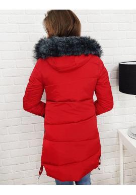 Zimná dámska bunda sivej farby s ozdobnými pásmi