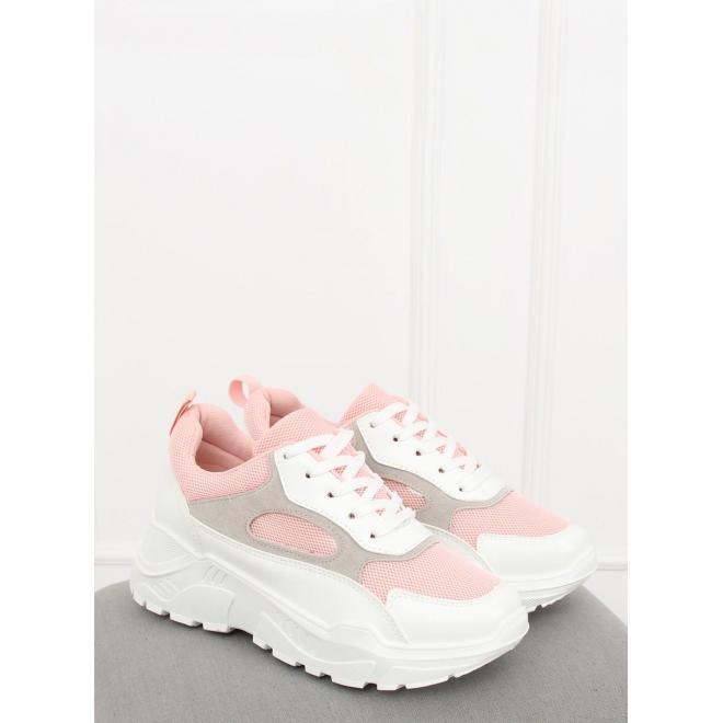 3f98d493453b4 Bielo-ružové športové tenisky na vysokej podrážke pre dámy ...