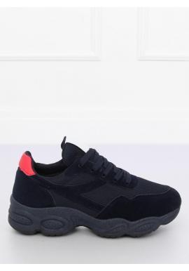 Dámske semišové tenisky s módnou podrážkou v čiernej farbe ... ca7320b44f4