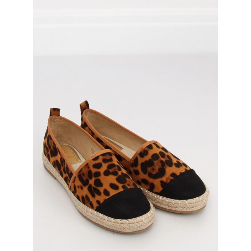03086faa0b22 Hnedé semišové espadrilky s leopardím vzorom pre dámy - skvelamoda.sk