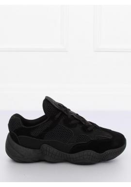 110468c10509a Dámske štýlové tenisky s originálnou podrážkou v čiernej farbe ...