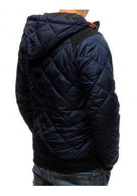 9df40878c ... Čierna prešívaná bunda s kapucňou pre pánov