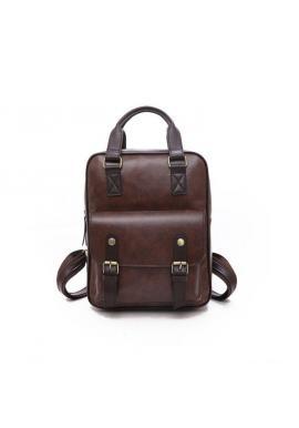 Štýlový ruksak čiernej farby s prackami