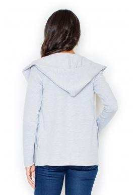 ... Ružový bavlnený sveter s kapucňou pre dámy fb76f4bb88