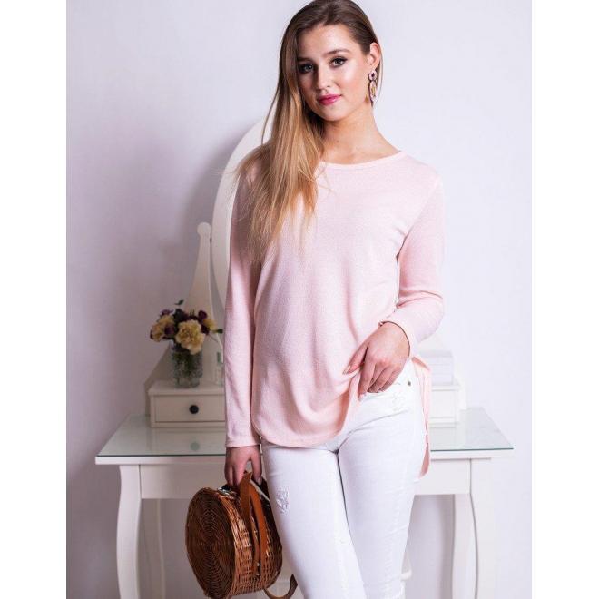0adfb677c06b Pastelovo ružová klasická blúzka s dlhým rukávom pre dámy ...
