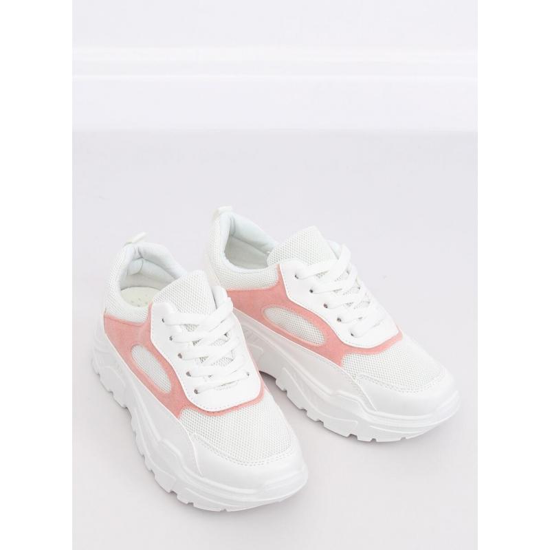 8984d96016f0c Módne dámske tenisky bielo-ružovej farby s vysokou podrážkou ...