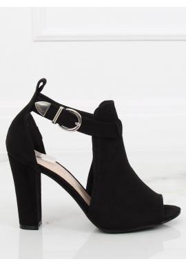 Béžové štýlové topánky na podpätku s motívom hadej kože pre dámy