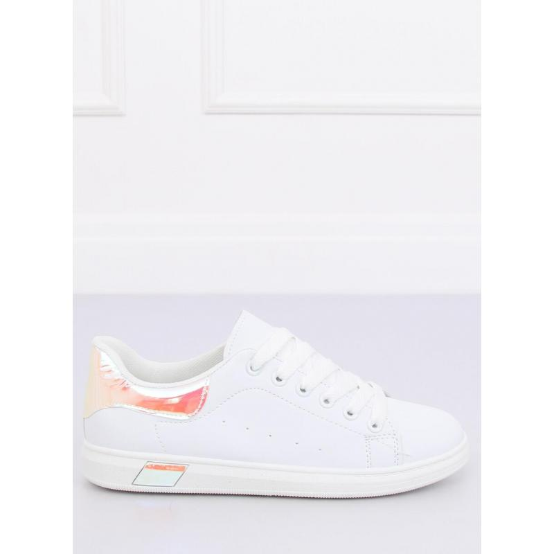 6e16d70c93 Dámske módne tenisky s holografickými prvkami v bielej farbe ...