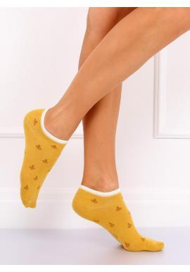 Dámske krátke ponožky s motívom kotvy v tmavomodrej farbe