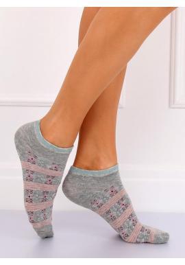 Krátke dámske ponožky ružovej farby s mrkvovým motívom