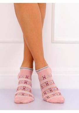 Dámske krátke ponožky so vzorom v mätovej farbe