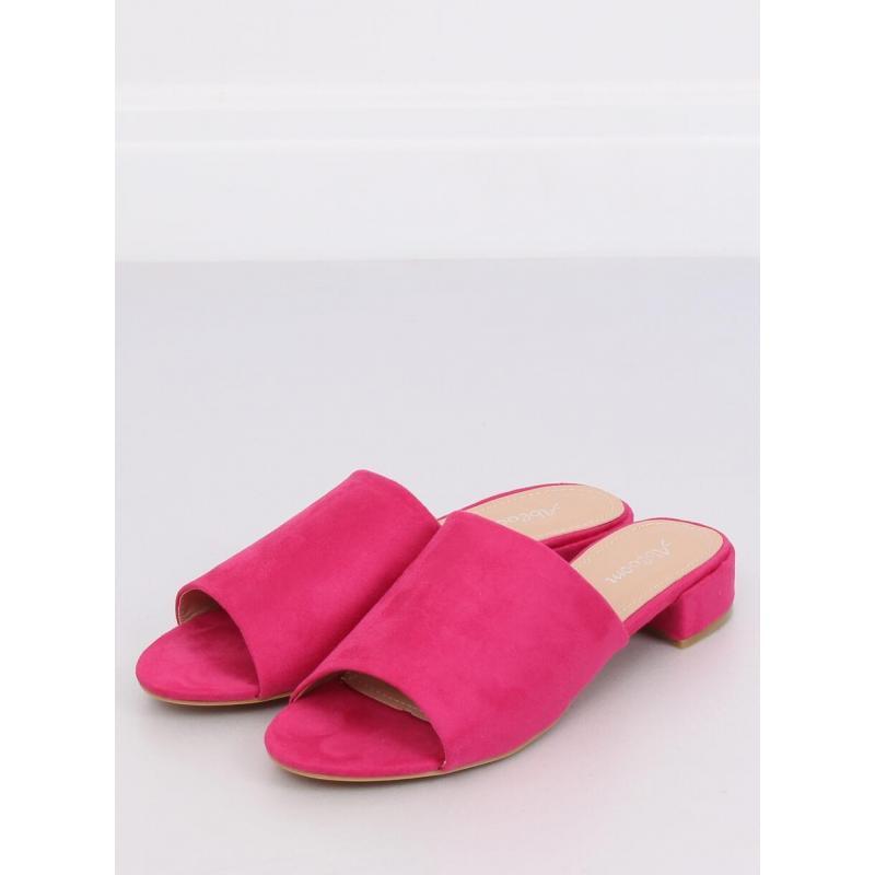 13d44d2c720b Ružové semišové šľapky na nízkom opätku pre dámy - skvelamoda.sk