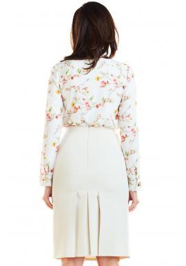 Ceruzková dámska sukňa béžovej farby