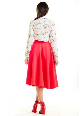Dámska rozšírená sukňa s vreckami vo farbe ecru