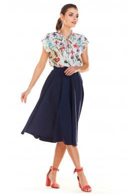 d5b29a410e57 Sivá rozšírená sukňa pre dámy ...