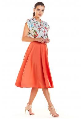 Sivá rozšírená sukňa pre dámy
