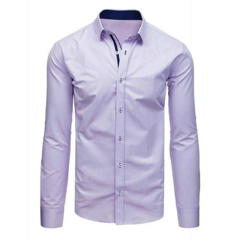 c506937c6339 Pánska elegantná košeľa s dlhým rukávom vo fialovej farbe ...