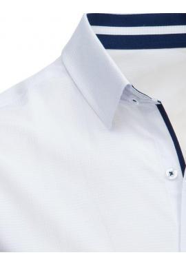 Elegantná pánska košeľa tmavomodrej farby so vzorom